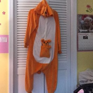 Kangaroo hooded onesie costume
